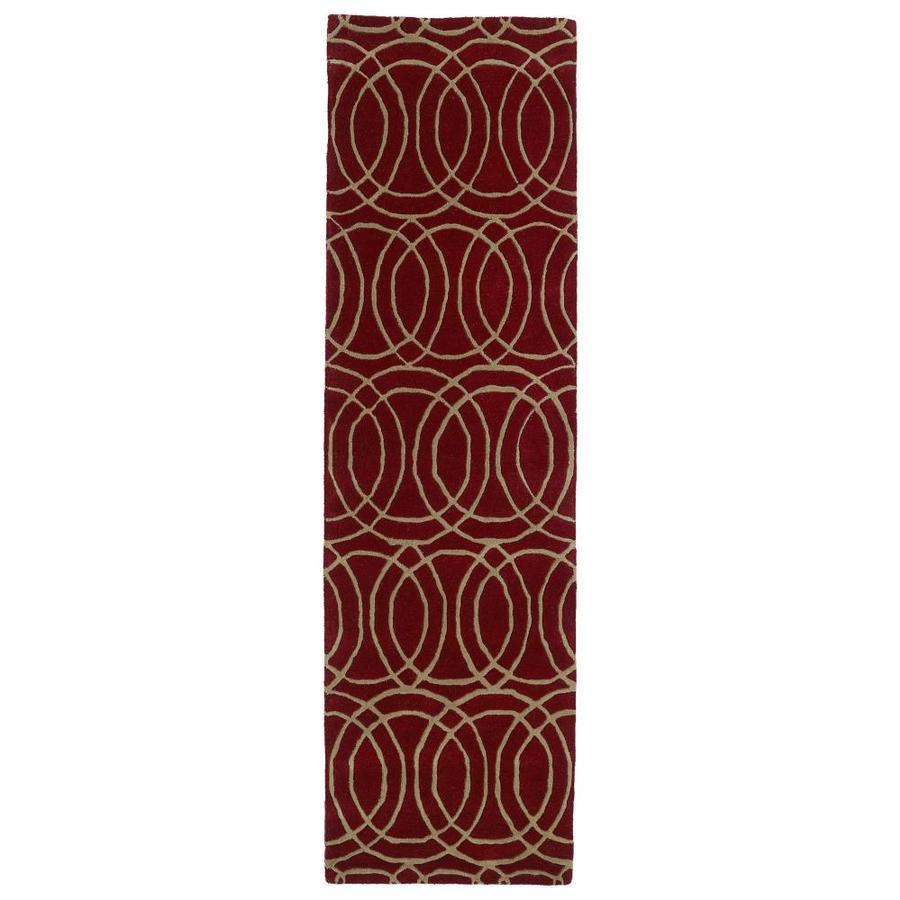 Kaleen Revolution Red Rectangular Indoor Handcrafted Novelty Runner (Common: 2 x 8; Actual: 2.25-ft W x 8-ft L)
