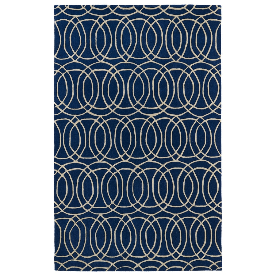Kaleen Revolution Navy Rectangular Indoor Handcrafted Moroccan Throw Rug (Common: 3 x 5; Actual: 3-ft W x 5-ft L)