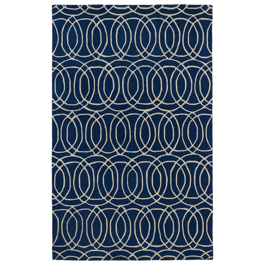 Kaleen Revolution Navy Rectangular Indoor Tufted Novelty Throw Rug (Common: 3 x 5; Actual: 36-in W x 60-in L)