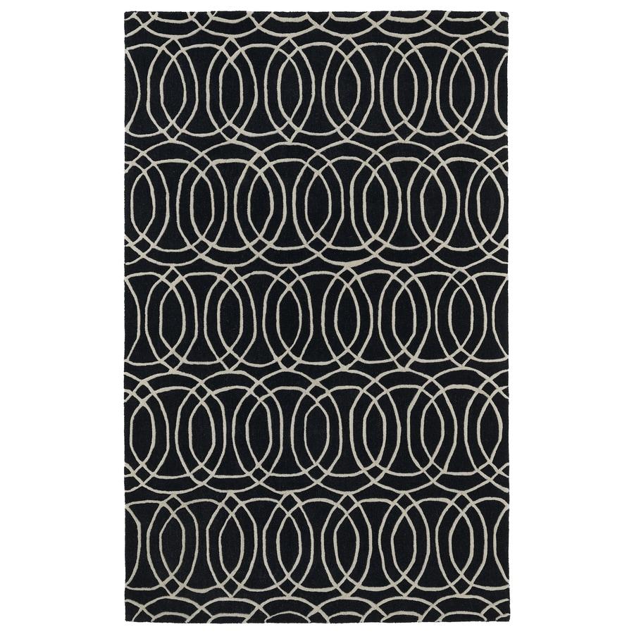 Kaleen Revolution Black Rectangular Indoor Tufted Novelty Throw Rug (Common: 3 x 5; Actual: 36-in W x 60-in L)