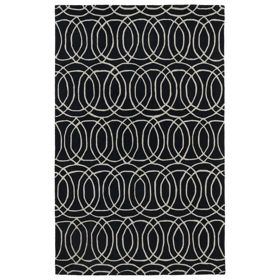 Kaleen Revolution Black Rectangular Indoor Tufted Novelty Area Rug (Common: 5 x 8; Actual: 60-in W x 108-in L)