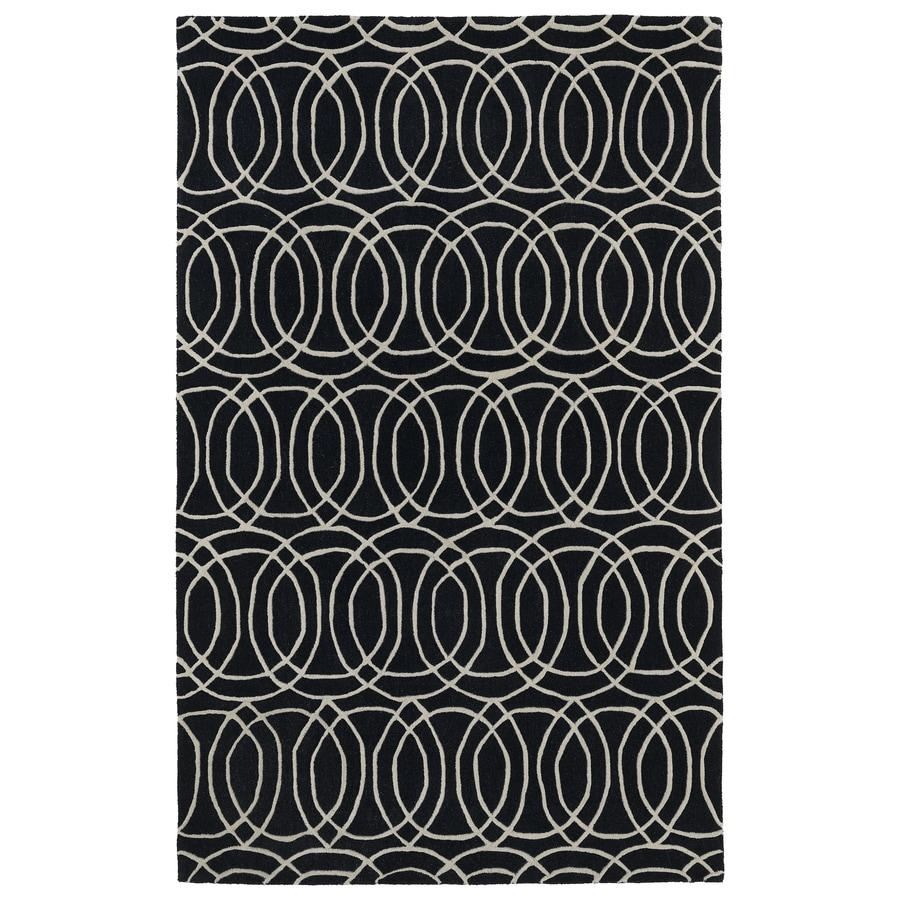 Kaleen Revolution Black Rectangular Indoor Handcrafted Moroccan Area Rug (Common: 8 x 11; Actual: 8-ft W x 11-ft L)