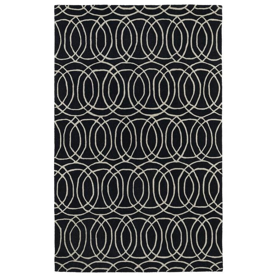Kaleen Revolution Black Rectangular Indoor Tufted Novelty Area Rug (Common: 8 x 11; Actual: 96-in W x 132-in L)