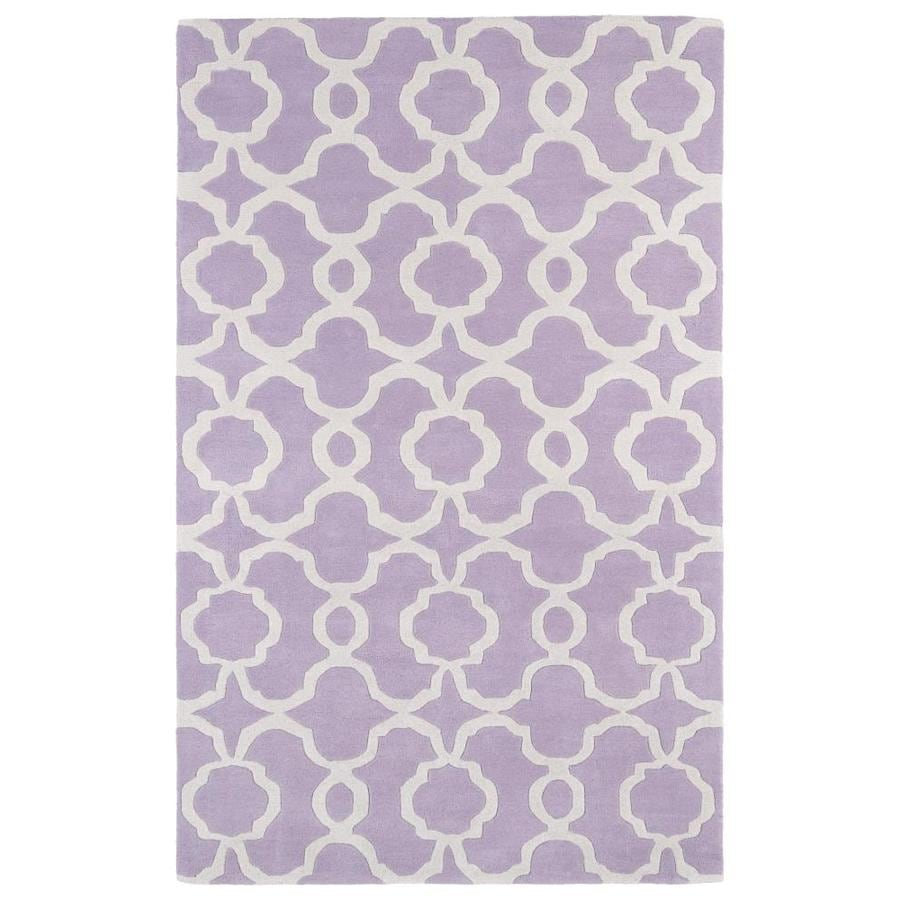 Kaleen Revolution Lilac Rectangular Indoor Handcrafted Novelty Area Rug (Common: 5 x 8; Actual: 5-ft W x 7.75-ft L)