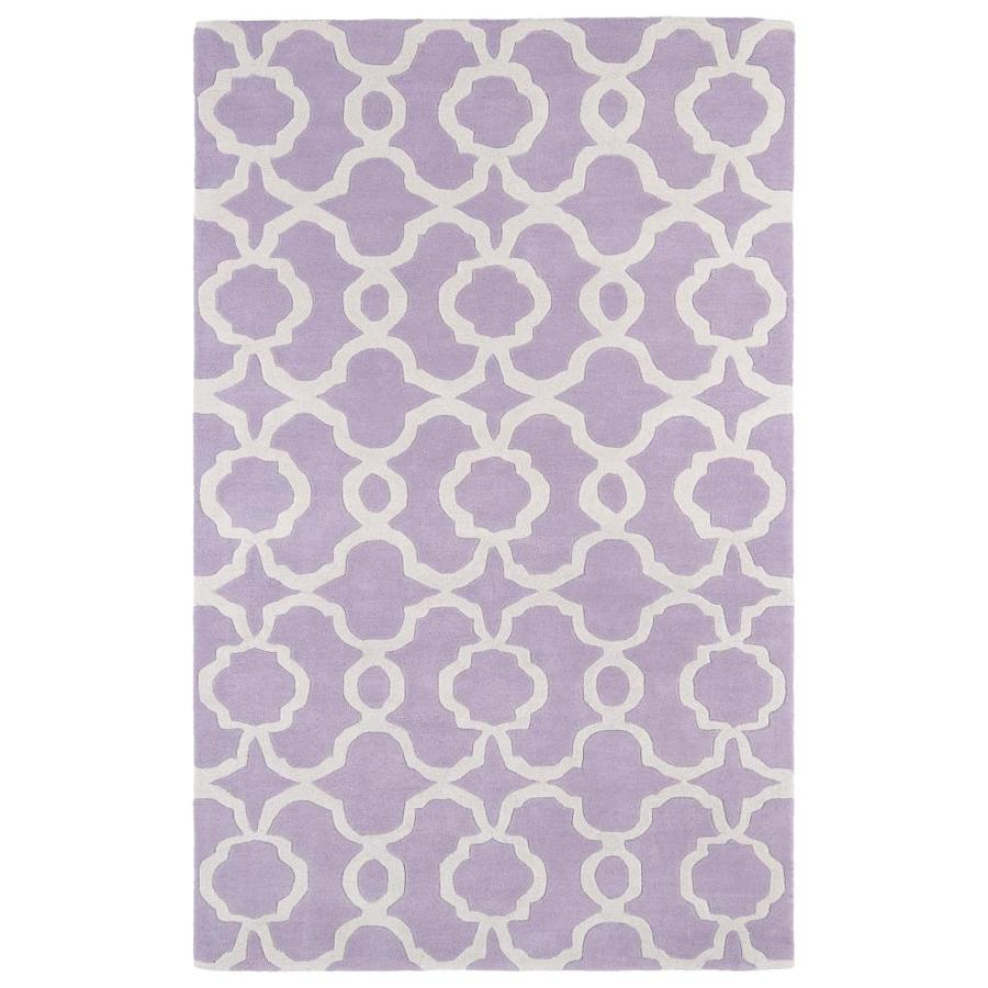 Kaleen Revolution Lilac Rectangular Indoor Handcrafted Novelty Area Rug (Common: 10 x 13; Actual: 9.5-ft W x 13-ft L)