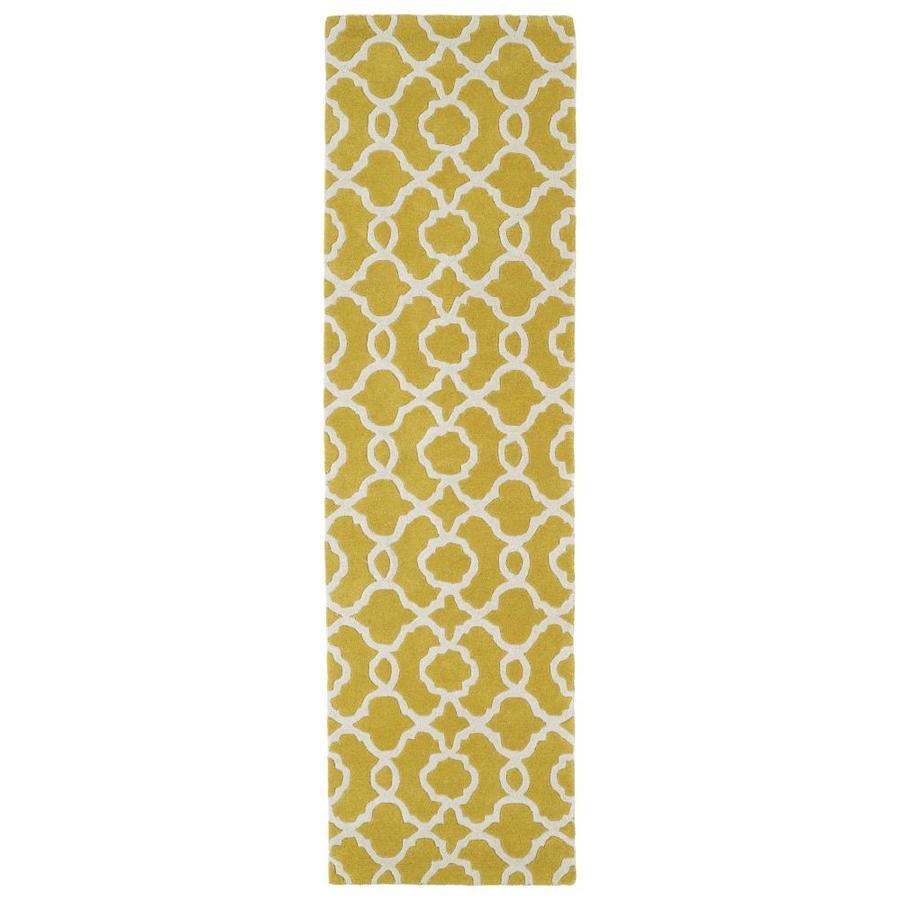 Kaleen Revolution Yellow Indoor Handcrafted Novelty Runner (Common: 2 x 8; Actual: 2.25-ft W x 8-ft L)