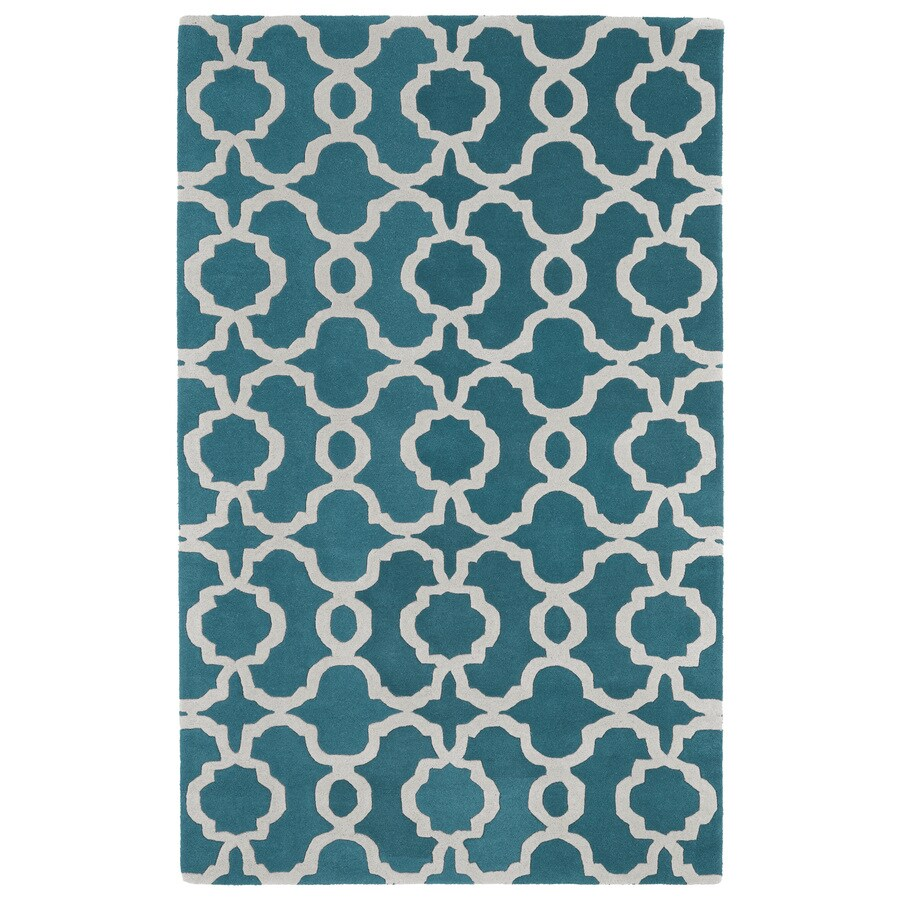 Kaleen Revolution Teal Indoor Handcrafted Moroccan Throw Rug (Common: 2 x 3; Actual: 2-ft W x 3-ft L)
