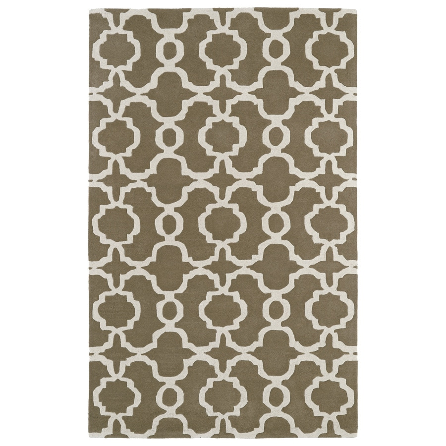 Kaleen Revolution Light Brown Rectangular Indoor Handcrafted Moroccan Throw Rug (Common: 2 x 3; Actual: 2-ft W x 3-ft L)