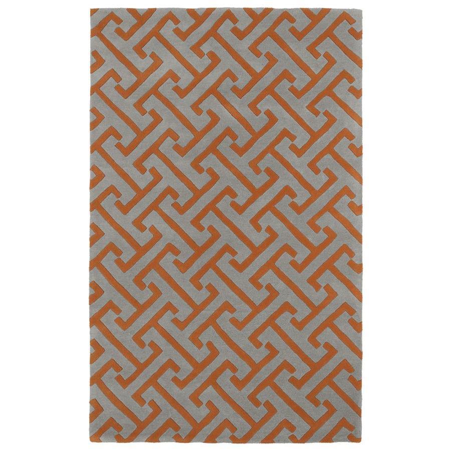 Kaleen Revolution Grey Rectangular Indoor Handcrafted Novelty Throw Rug (Common: 2 x 3; Actual: 2-ft W x 3-ft L)