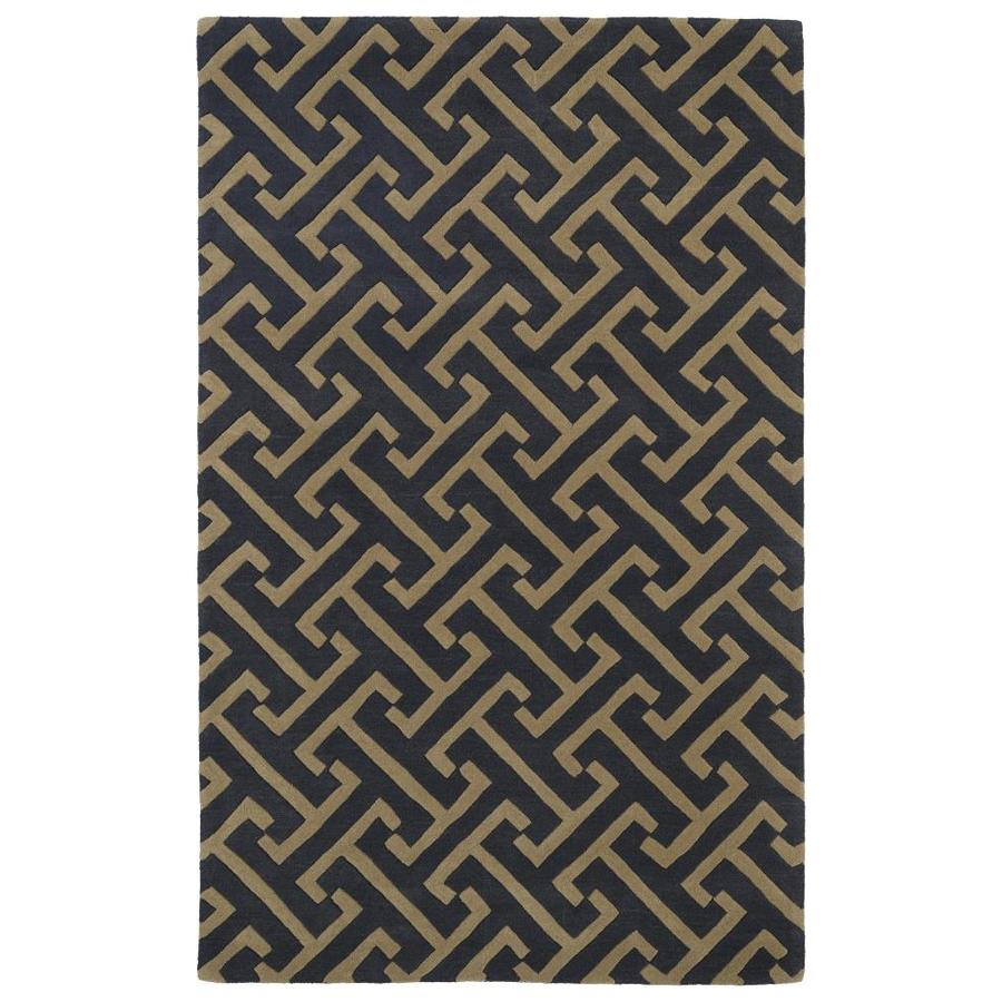 Kaleen Revolution Charcoal Rectangular Indoor Handcrafted Novelty Area Rug (Common: 10 x 13; Actual: 9.5-ft W x 13-ft L)