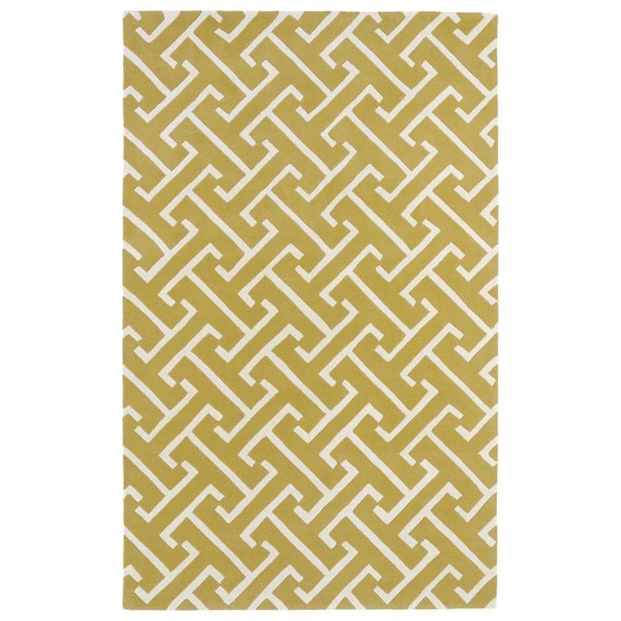 Kaleen Revolution Yellow Rectangular Indoor Handcrafted Novelty Area Rug (Common: 5 x 8; Actual: 5-ft W x 7.75-ft L)