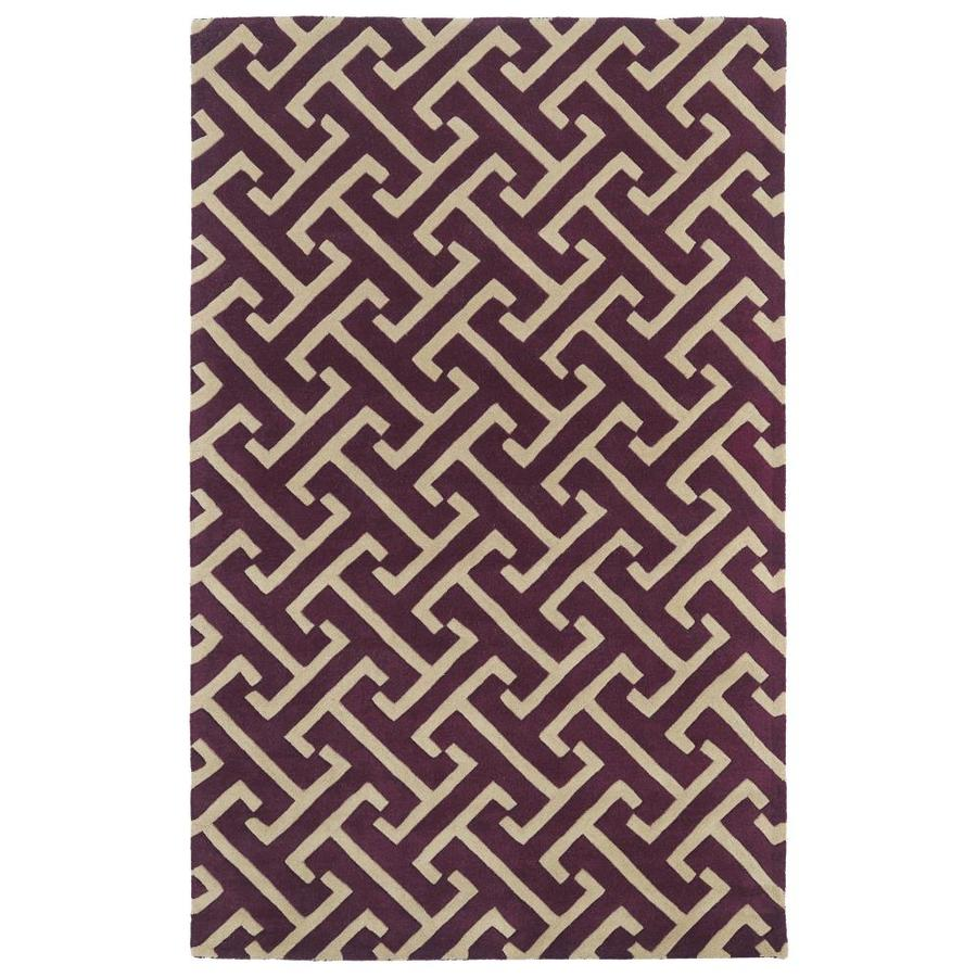 Kaleen Revolution Plum Rectangular Indoor Handcrafted Novelty Area Rug (Common: 10 x 13; Actual: 9.5-ft W x 13-ft L)
