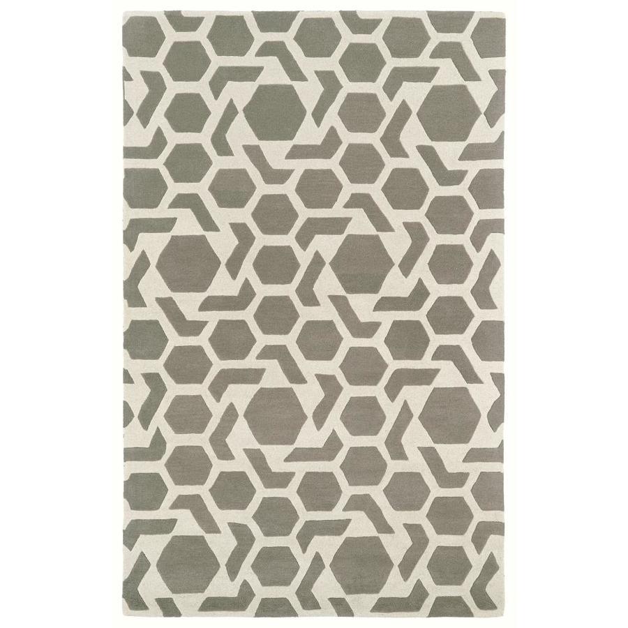 Kaleen Revolution Grey Rectangular Indoor Handcrafted Novelty Area Rug (Common: 10 x 13; Actual: 9.5-ft W x 13-ft L)