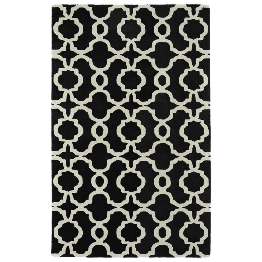 Kaleen Revolution Black Rectangular Indoor Handcrafted Novelty Throw Rug (Common: 3 x 5; Actual: 3-ft W x 5-ft L)
