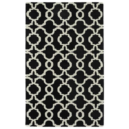 Kaleen Revolution Black Rectangular Indoor Handcrafted