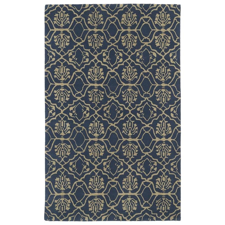 Kaleen Evolution Ash Indoor Handcrafted Area Rug (Common: 8 x 11; Actual: 8-ft W x 11-ft L)