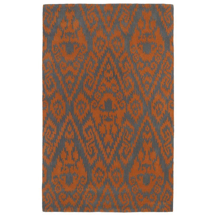 Kaleen Evolution Orange Indoor Handcrafted Area Rug (Common: 8 x 11; Actual: 8-ft W x 11-ft L)