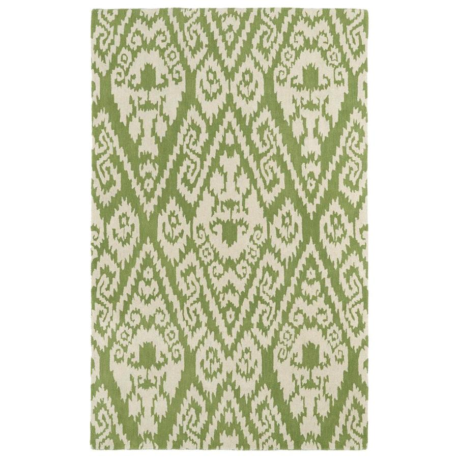 Kaleen Evolution Green Indoor Handcrafted Throw Rug (Common: 2 x 3; Actual: 2-ft W x 3-ft L)