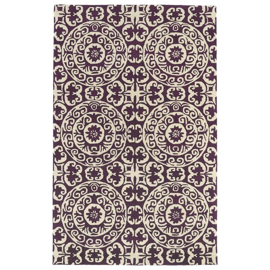 Kaleen Evolution Purple Rectangular Indoor Handcrafted Throw Rug (Common: 2 x 3; Actual: 2-ft W x 3-ft L)
