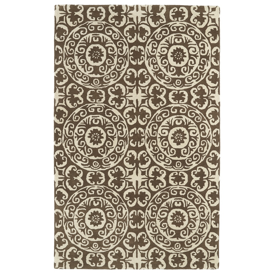 Kaleen Evolution Brown Rectangular Indoor Handcrafted Nature Throw Rug (Common: 2 x 3; Actual: 2-ft W x 3-ft L)