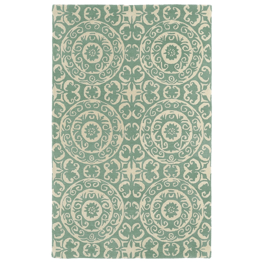 Kaleen Evolution Mint Rectangular Indoor Tufted Novelty Throw Rug (Common: 3 x 5; Actual: 36-in W x 60-in L)