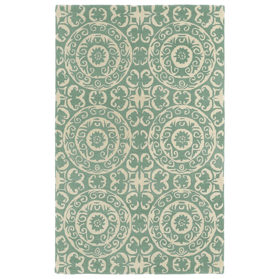 Kaleen Evolution Mint Rectangular Indoor Handcrafted Nature Area Rug (Common: 5 x 7; Actual: 5-ft W x 7.75-ft L)
