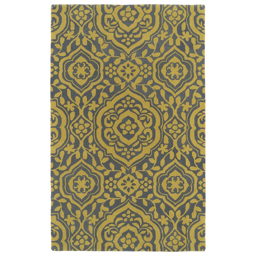 Kaleen Evolution Yellow Rectangular Indoor Handcrafted Nature Area Rug (Common: 8X11; Actual: 8-ft W x 11-ft L x 0-ft Dia)