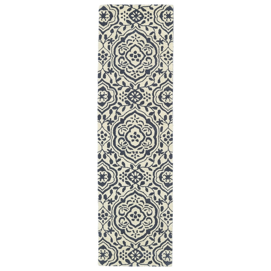 Kaleen Evolution Grey Rectangular Indoor Tufted Novelty Runner (Common: 2 x 6; Actual: 27-in W x 72-in L)