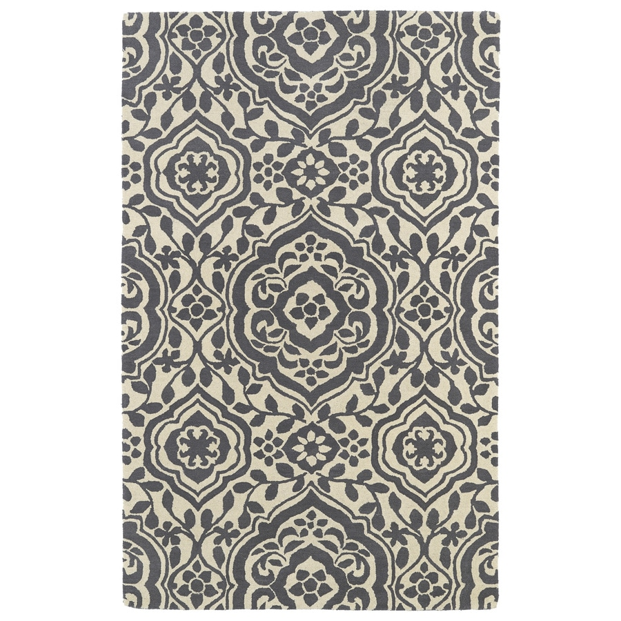 Kaleen Evolution Grey Rectangular Indoor Tufted Novelty Area Rug (Common: 5 x 8; Actual: 60-in W x 93-in L)