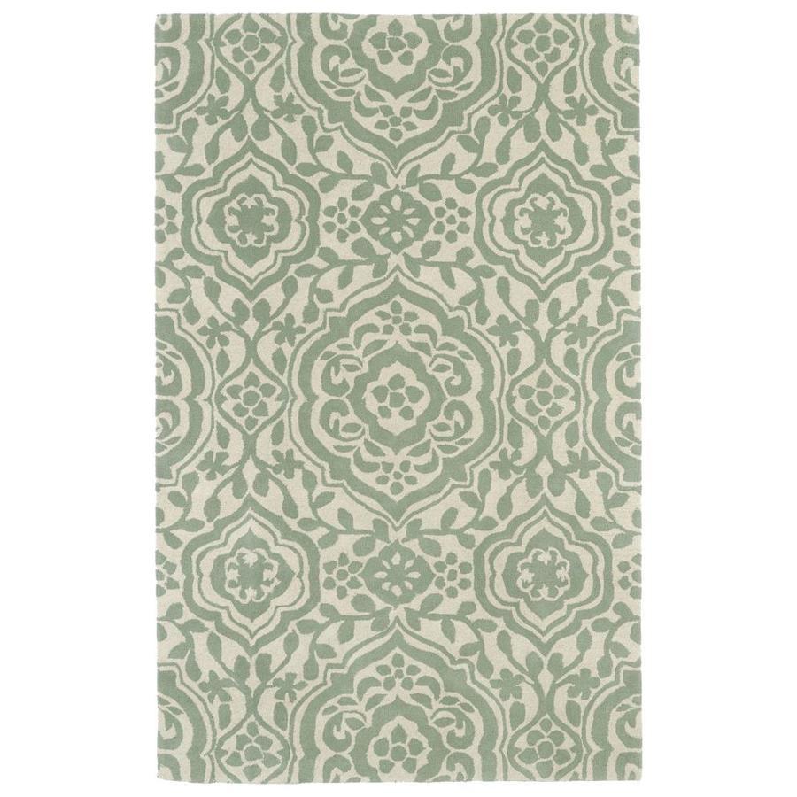 Kaleen Evolution Mint Indoor Handcrafted Area Rug (Common: 10 x 13; Actual: 9.5-ft W x 13-ft L)