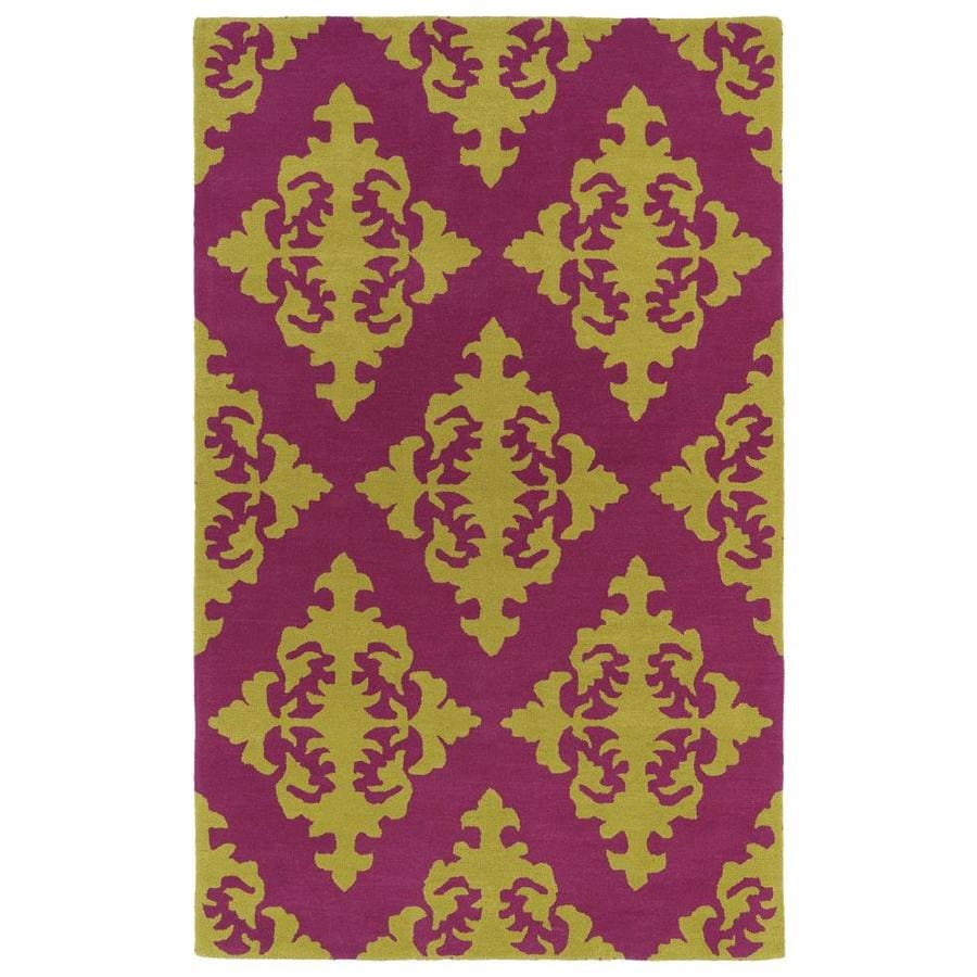Kaleen Evolution Pink Rectangular Indoor Handcrafted Area Rug (Common: 10 x 13; Actual: 9.5-ft W x 13-ft L)