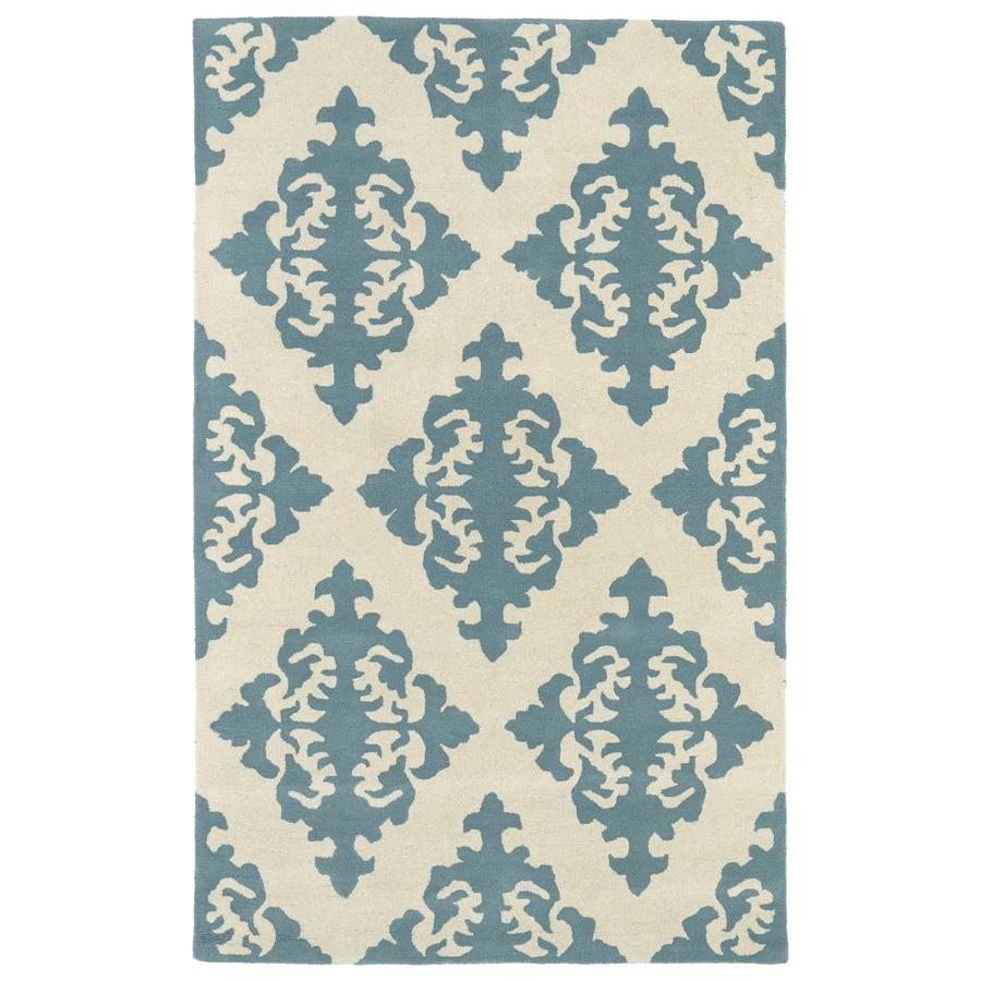 Kaleen Evolution Spa Rectangular Indoor Handcrafted Area Rug (Common: 10 x 13; Actual: 9.5-ft W x 13-ft L)