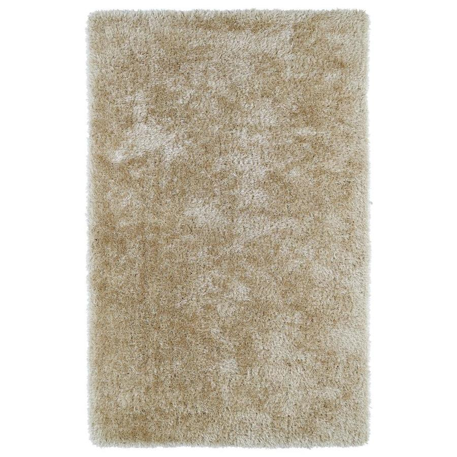 Kaleen Posh Beige Rectangular Indoor Handcrafted Novelty Throw Rug (Common: 3 x 5; Actual: 3-ft W x 5-ft L)