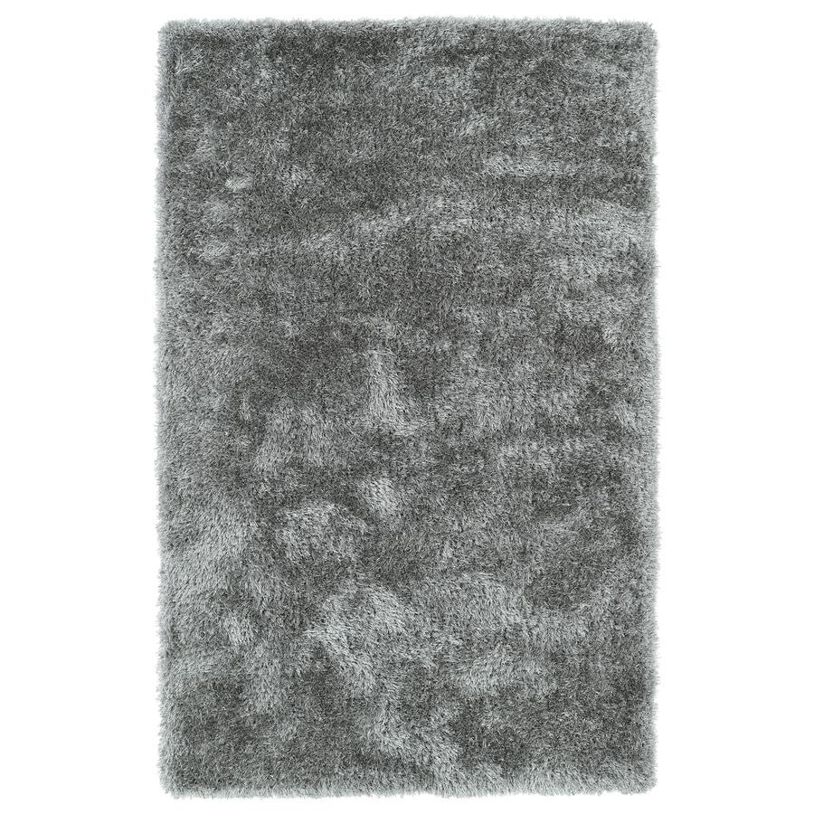 Kaleen Posh Silver Rectangular Indoor Tufted Kids Throw Rug (Common: 2 x 3; Actual: 24-in W x 36-in L)