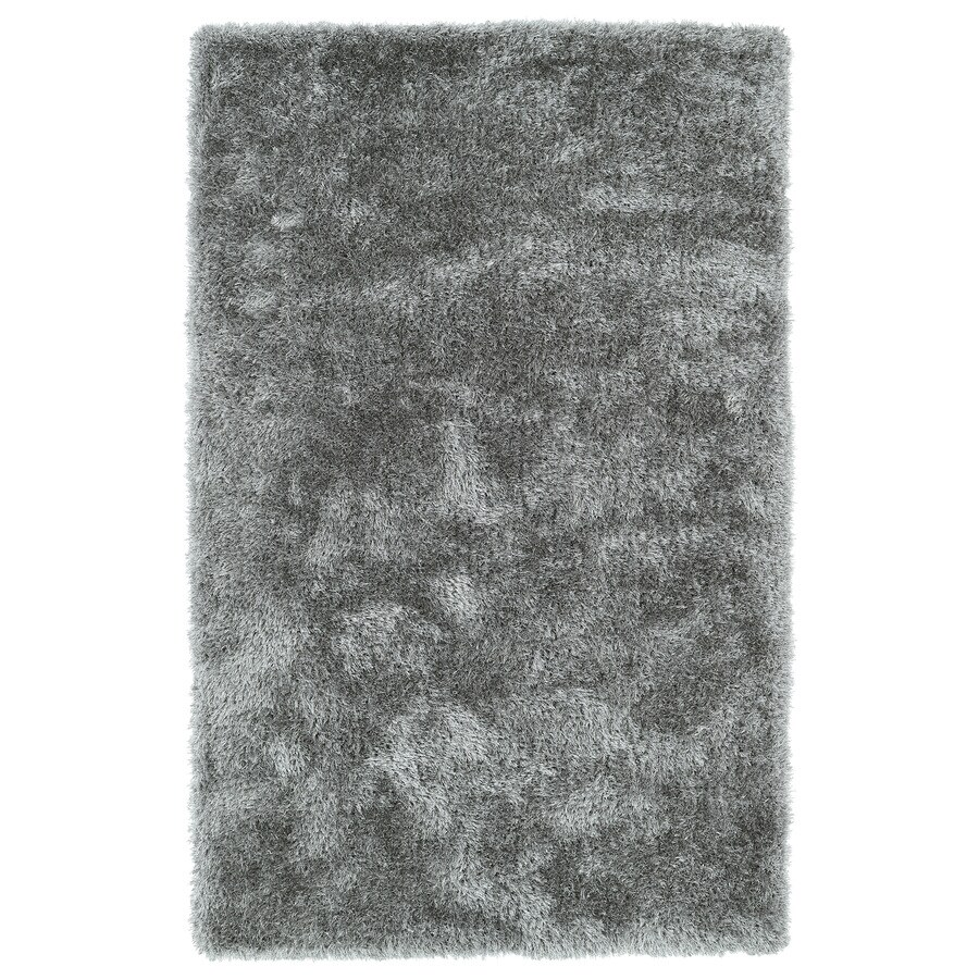 Kaleen Posh Silver Rectangular Indoor Handcrafted Novelty Area Rug (Common: 5 x 7; Actual: 5-ft W x 7-ft L)