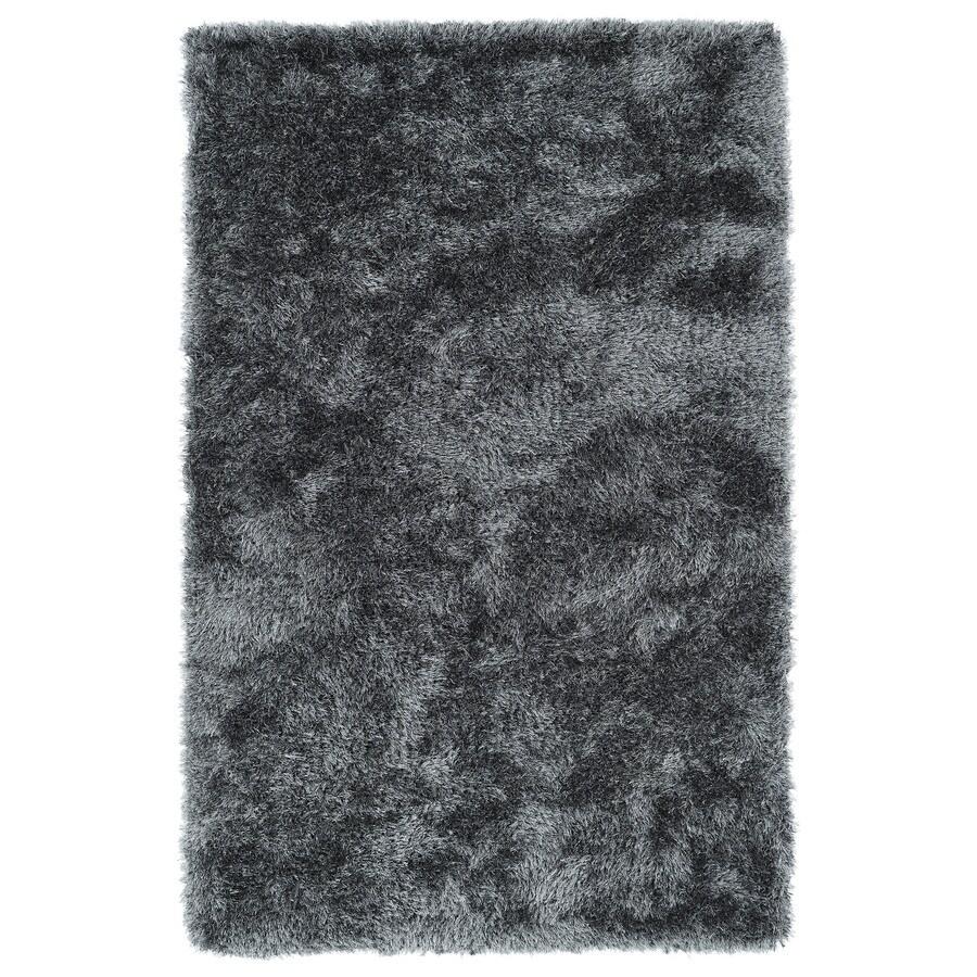 Kaleen Posh Grey Rectangular Indoor Handcrafted Novelty Throw Rug (Common: 2 x 3; Actual: 2-ft W x 3-ft L)