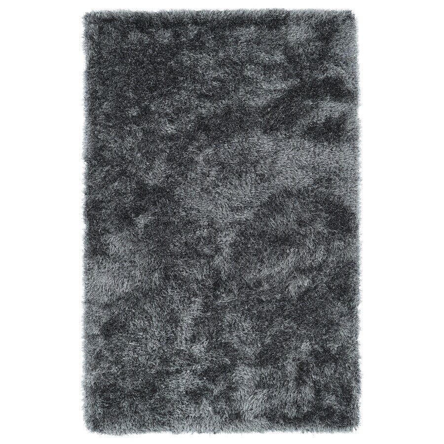 Kaleen Posh Grey Rectangular Indoor Handcrafted Kids Throw Rug (Common: 3 x 5; Actual: 3-ft W x 5-ft L x 0-ft Dia)