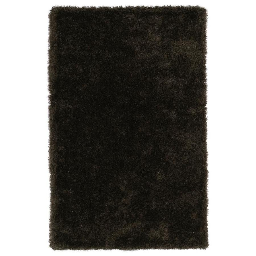 Kaleen Posh Chocolate Indoor Handcrafted Novelty Area Rug (Common: 5 x 7; Actual: 5-ft W x 7-ft L)
