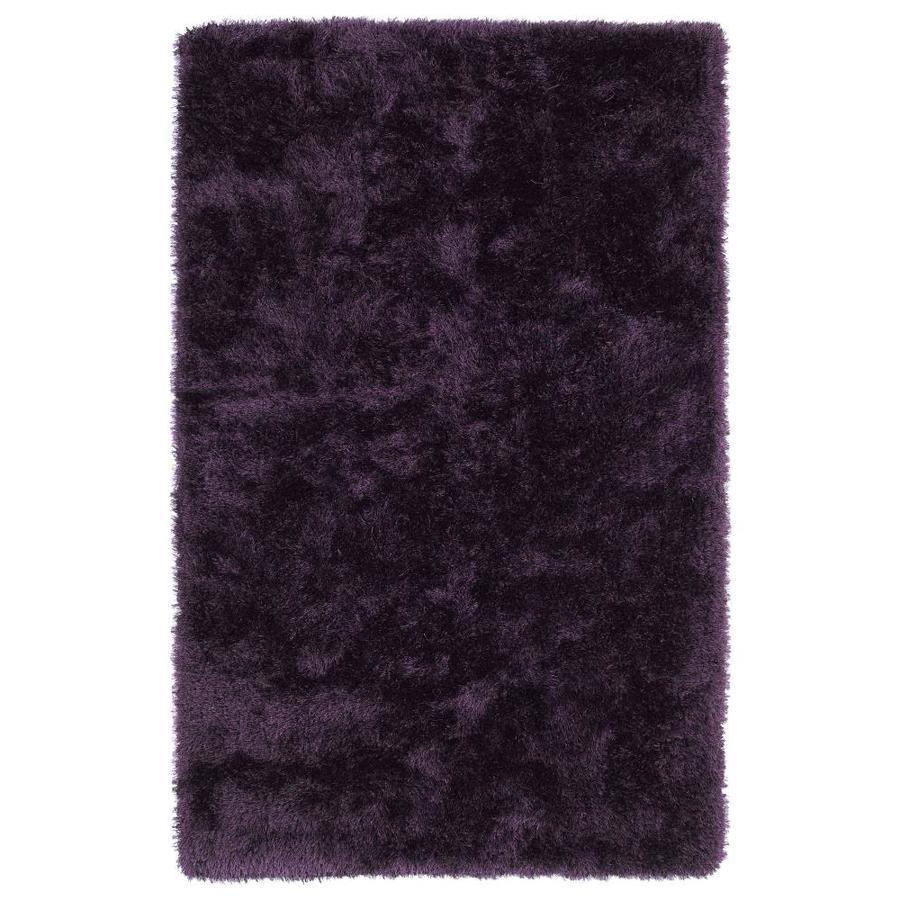 Kaleen Posh Purple Indoor Handcrafted Novelty Area Rug (Common: 5 x 7; Actual: 5-ft W x 7-ft L)