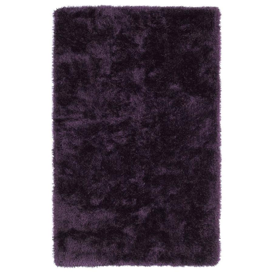 Kaleen Posh Purple Rectangular Indoor Handcrafted Novelty Area Rug (Common: 9 x 12; Actual: 9-ft W x 12-ft L)