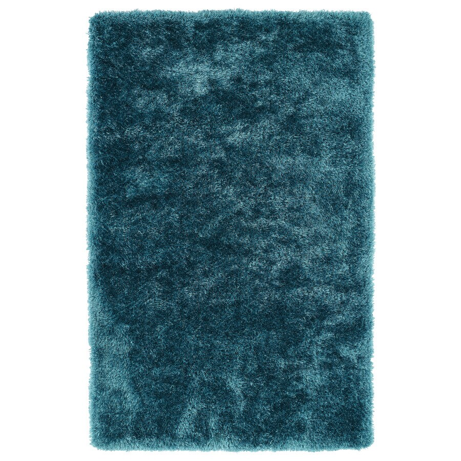 Kaleen Posh Teal Rectangular Indoor Handcrafted Novelty Throw Rug (Common: 2 x 3; Actual: 2-ft W x 3-ft L)