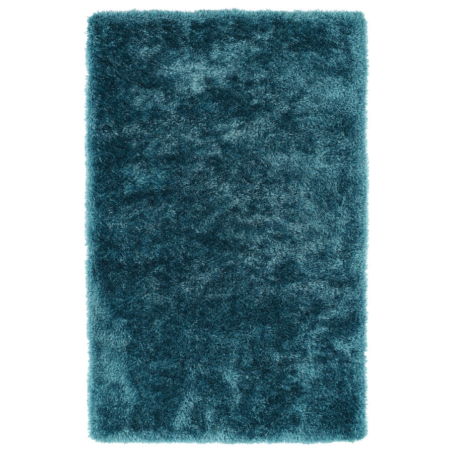 Kaleen Posh Teal Rectangular Indoor Tufted Kids Area Rug (Common: 5 x 7; Actual: 60-in W x 84-in L)