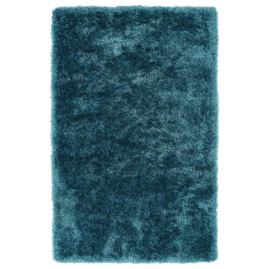 Kaleen Posh Teal Indoor Handcrafted Novelty Area Rug (Common: 9 x 12; Actual: 9-ft W x 12-ft L)