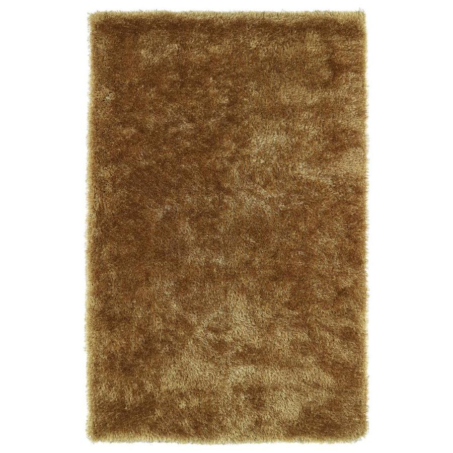 Kaleen Posh Gold Indoor Handcrafted Novelty Area Rug (Common: 8 x 10; Actual: 8-ft W x 10-ft L)