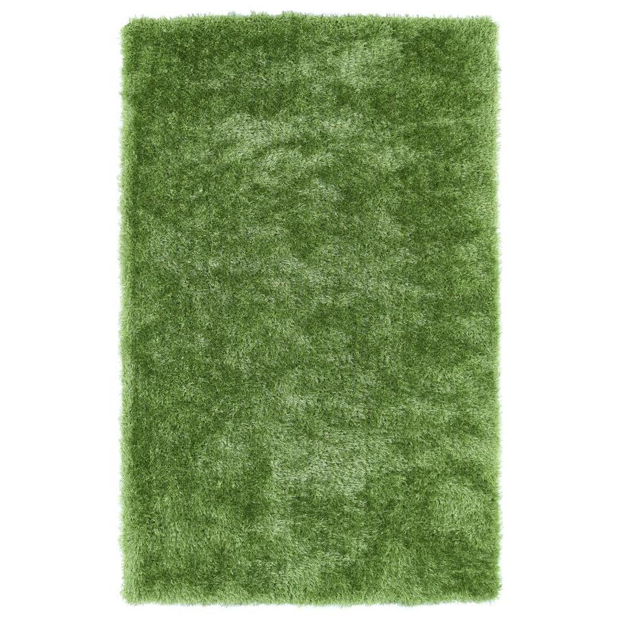 Kaleen Posh Lime Green Rectangular Indoor Handcrafted Novelty Area Rug (Common: 8 x 10; Actual: 8-ft W x 10-ft L)
