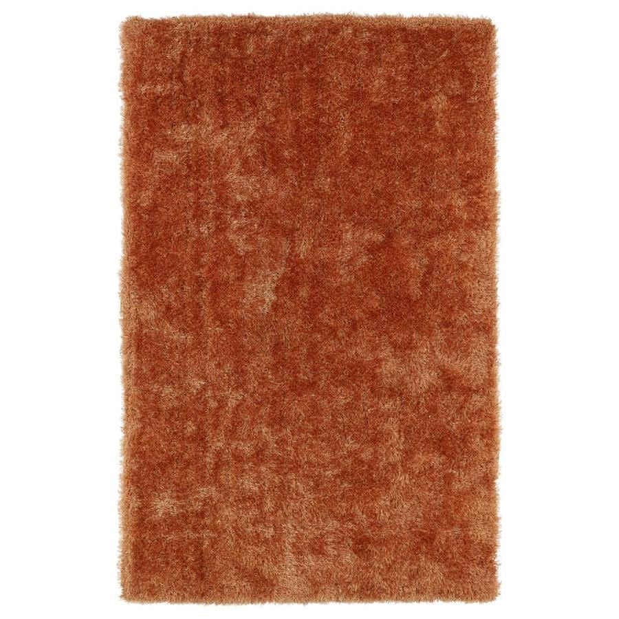 Kaleen Posh Orange Indoor Handcrafted Novelty Throw Rug (Common: 3 x 5; Actual: 3-ft W x 5-ft L)