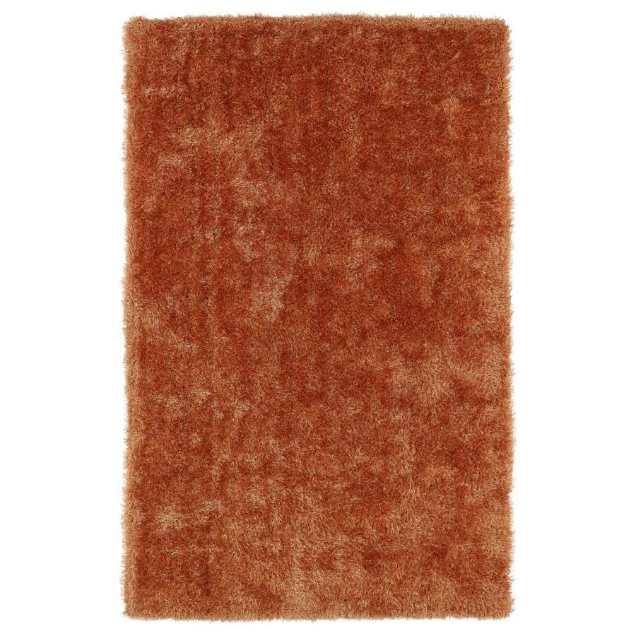 Kaleen Posh Orange Indoor Handcrafted Novelty Area Rug (Common: 5 x 7; Actual: 5-ft W x 7-ft L)