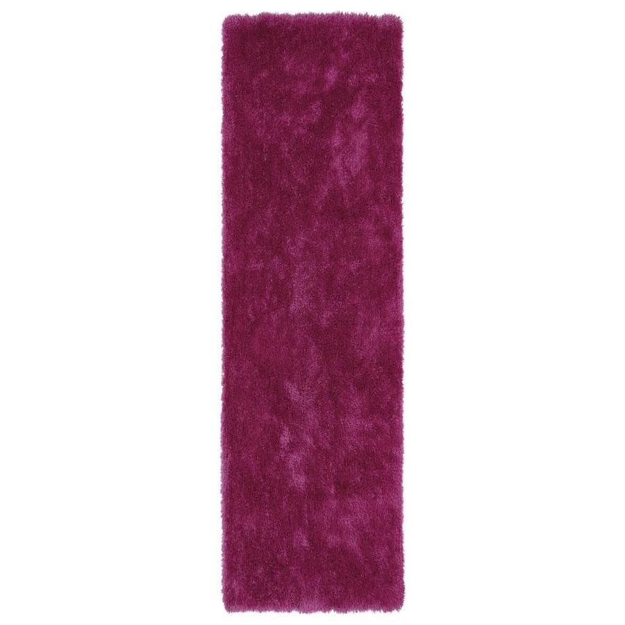 Kaleen Posh Pink Rectangular Indoor Handcrafted Novelty Runner (Common: 2 x 8; Actual: 2.25-ft W x 8-ft L)