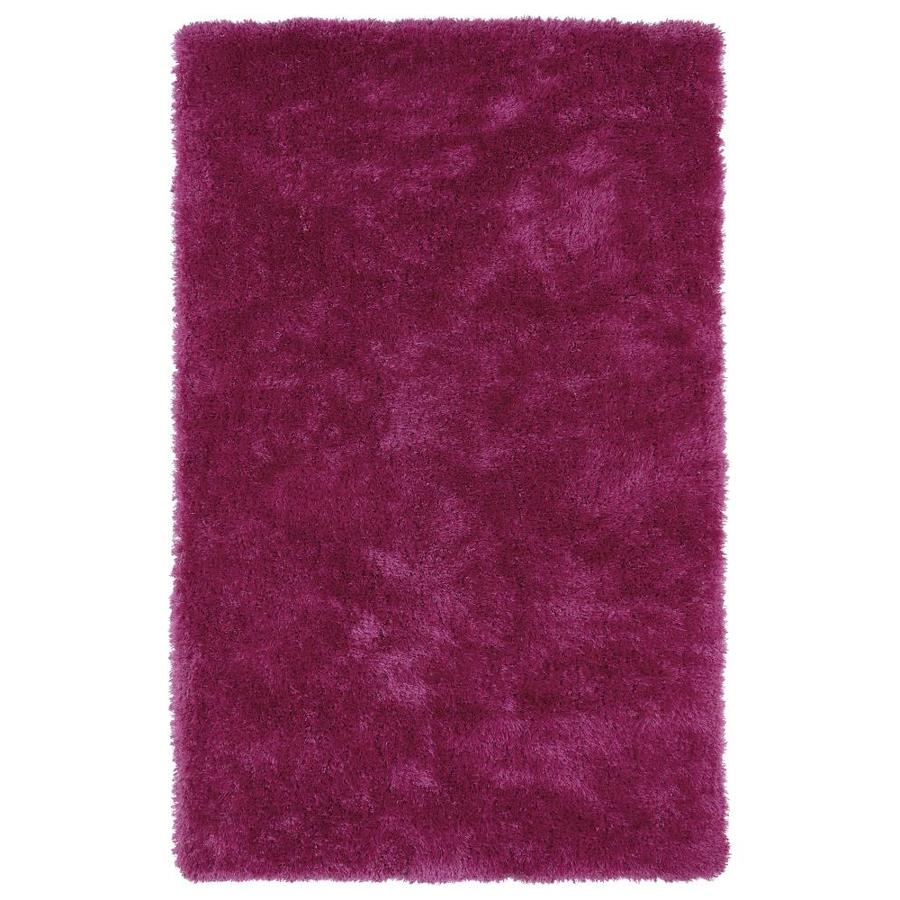 Kaleen Posh Pink Indoor Handcrafted Novelty Throw Rug (Common: 3 x 5; Actual: 3-ft W x 5-ft L)