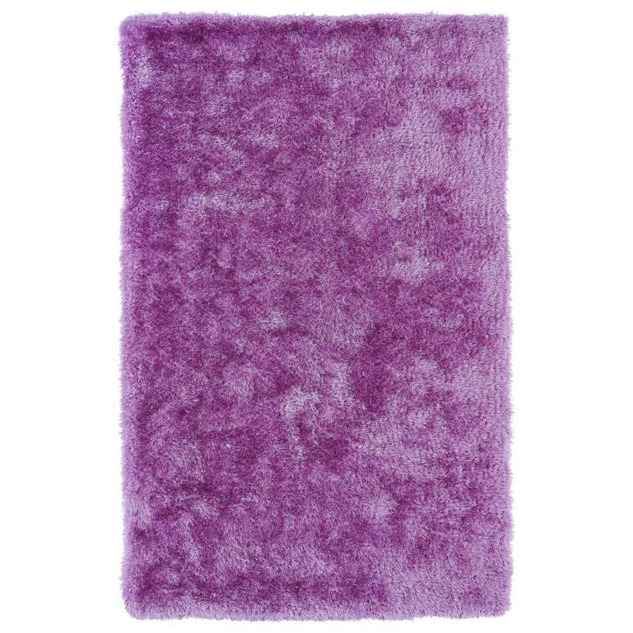 Kaleen Posh Lilac Rectangular Indoor Handcrafted Novelty Area Rug (Common: 5 x 7; Actual: 5-ft W x 7-ft L)